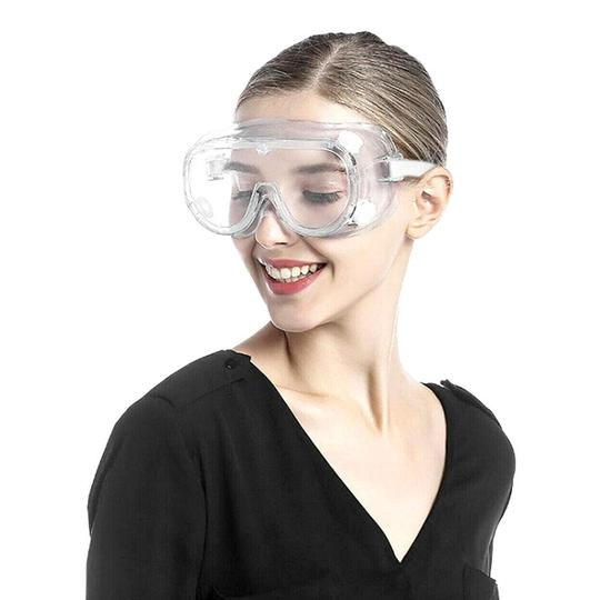 1 Pcs Protective Eye Goggles Safety Glasses + 10 Pcs 3 Ply Surgical Disposable Mask