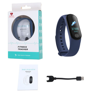 "New M3 PLUS 0.96"" OLED Big touch Screen Blood Heart Rate Smart Wristband"