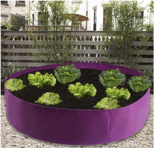 Fabric Raised Garden Bed Round Planting Container Grow Bags Breathable Felt Fabric Planter Pot