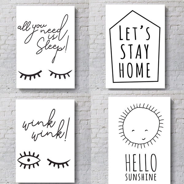 Hello Sunshine Wall Frame Docor Hanging Picture Home Decor 30*40cm