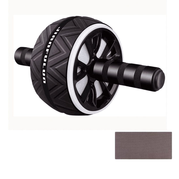 Abdominal Wheel- Ab Exercise and Fitness Wheel with Easy Grip Handles for Core Training with Mat
