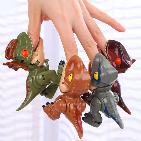 Mini Transformation Cute Dinosaur Q Version Tyrannosaurus Rex Dilophosaurus Velociraptor Torosaurus Toy