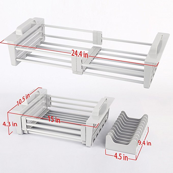 High Quality Aluminium Expandable Dish Rack