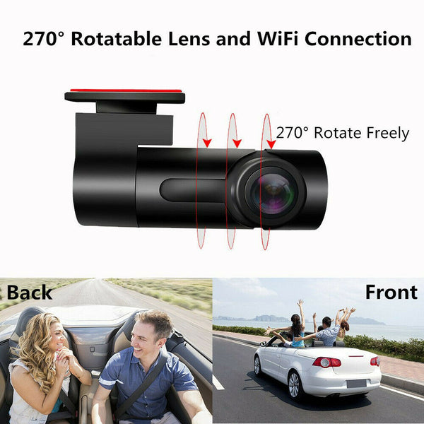 1080P HD Car Camera DVR Dash Cam Recorder Covert With WiFi Night Vision