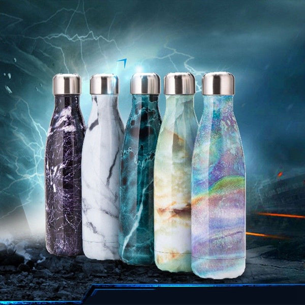 500ml Water Bottle Stainless Steel Double Wall Sport Vacuum Insulated Drink Cup