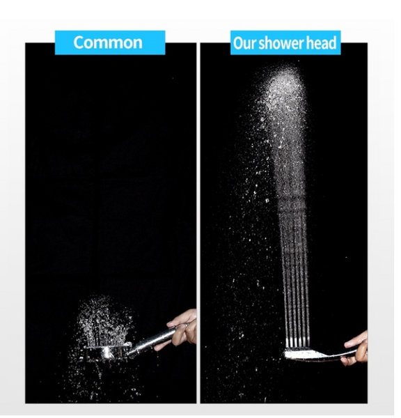 Bathroom Super Low Water Pressure Boosting Water Saving Shower Head Pinhole Jets
