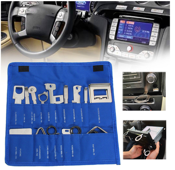 38 Pcs Car Stereo Release Removal Repairing Tool Kit CD Player Radio Head Unit