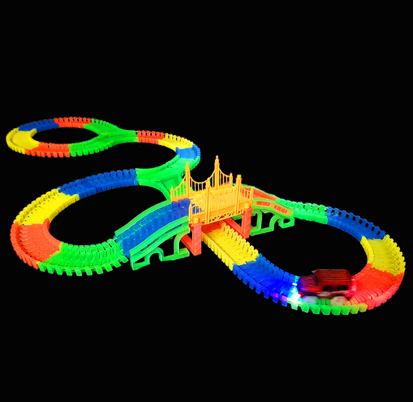 Amazing colourful Glow in the Dark Mega track playsets