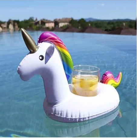 Inflatable Floating Drink Can Cup Holder Beer Party Swimming Pool Bath Beach