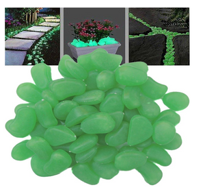 100Pcs Glow in the Dark Garden Pebbles Glow Stones Rocks for Walkways