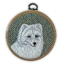 Load image into Gallery viewer, Arctic fox winter decoration