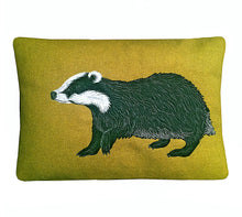 Load image into Gallery viewer, Badger cushion - made to order