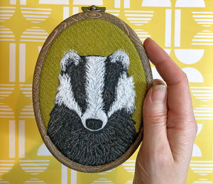 Badger hoop art