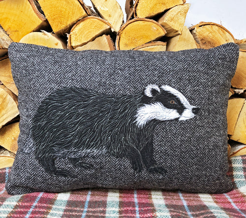 Badger cushion - made to order