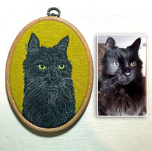 Load image into Gallery viewer, Pet portrait hoop art
