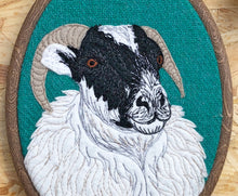 Load image into Gallery viewer, Sheep hoop art - made to order