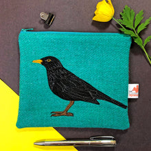 Load image into Gallery viewer, Blackbird zip pouch