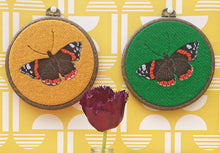 Load image into Gallery viewer, Butterfly hoop art