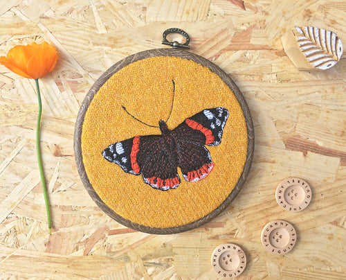 Butterfly hoop art - made to order