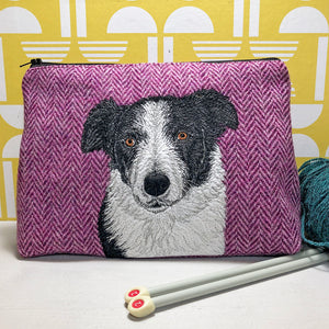 Pet portrait project bag - made to order
