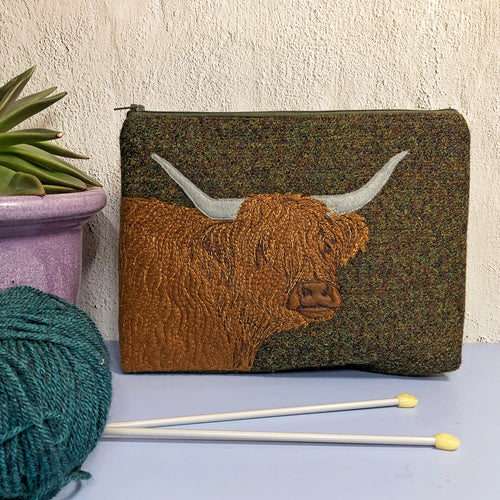 Highland Cow project bag