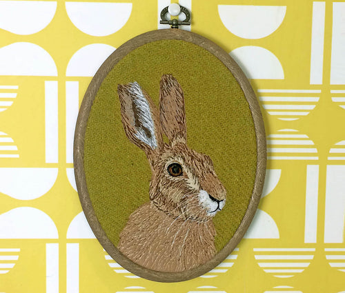 Hare hoop art - made to order