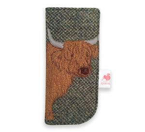 Highland Cow glasses case