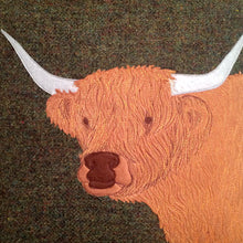 Load image into Gallery viewer, Highland cow cushion - made to order