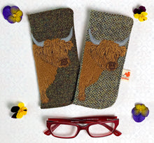 Load image into Gallery viewer, Highland Cow glasses case