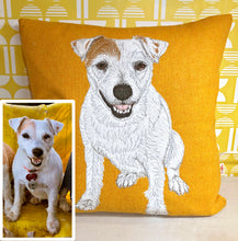 Load image into Gallery viewer, Pet portrait cushion - made to order