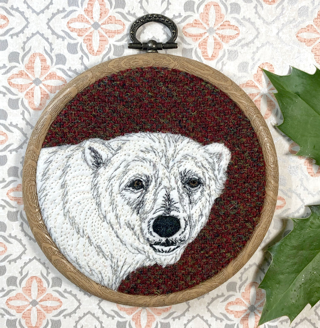 Polar bear winter decoration