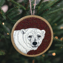 Load image into Gallery viewer, Polar bear winter decoration