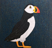 Load image into Gallery viewer, Puffin cushion - made to order