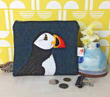 Load image into Gallery viewer, Puffin zip pouch