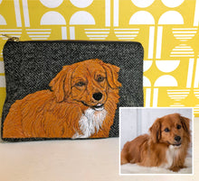 Load image into Gallery viewer, Pet portrait project bag - made to order