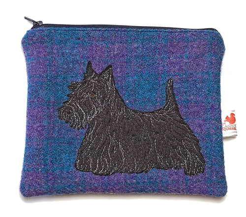 Scottish terrier zip pouch