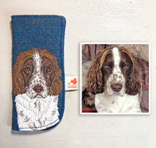 Load image into Gallery viewer, Pet portrait glasses case - made to order