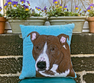 Staffie cushion