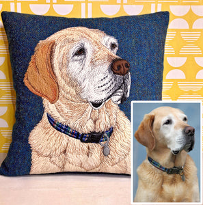 Pet portrait cushion - made to order