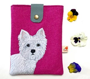 West Highland terrier tablet case