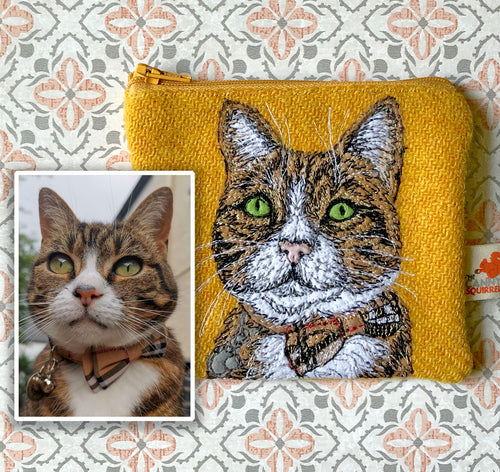 Pet portrait coin purse - made to order