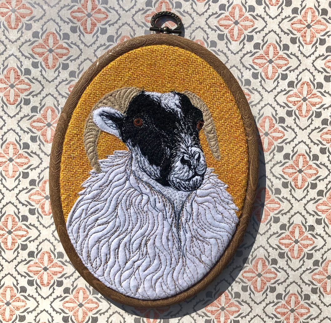 Sheep hoop art - made to order