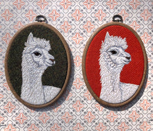 Load image into Gallery viewer, Alpaca hoop art - green