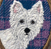 Load image into Gallery viewer, West Highland Terrier hoop art