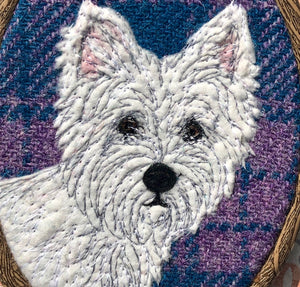 West Highland Terrier hoop art