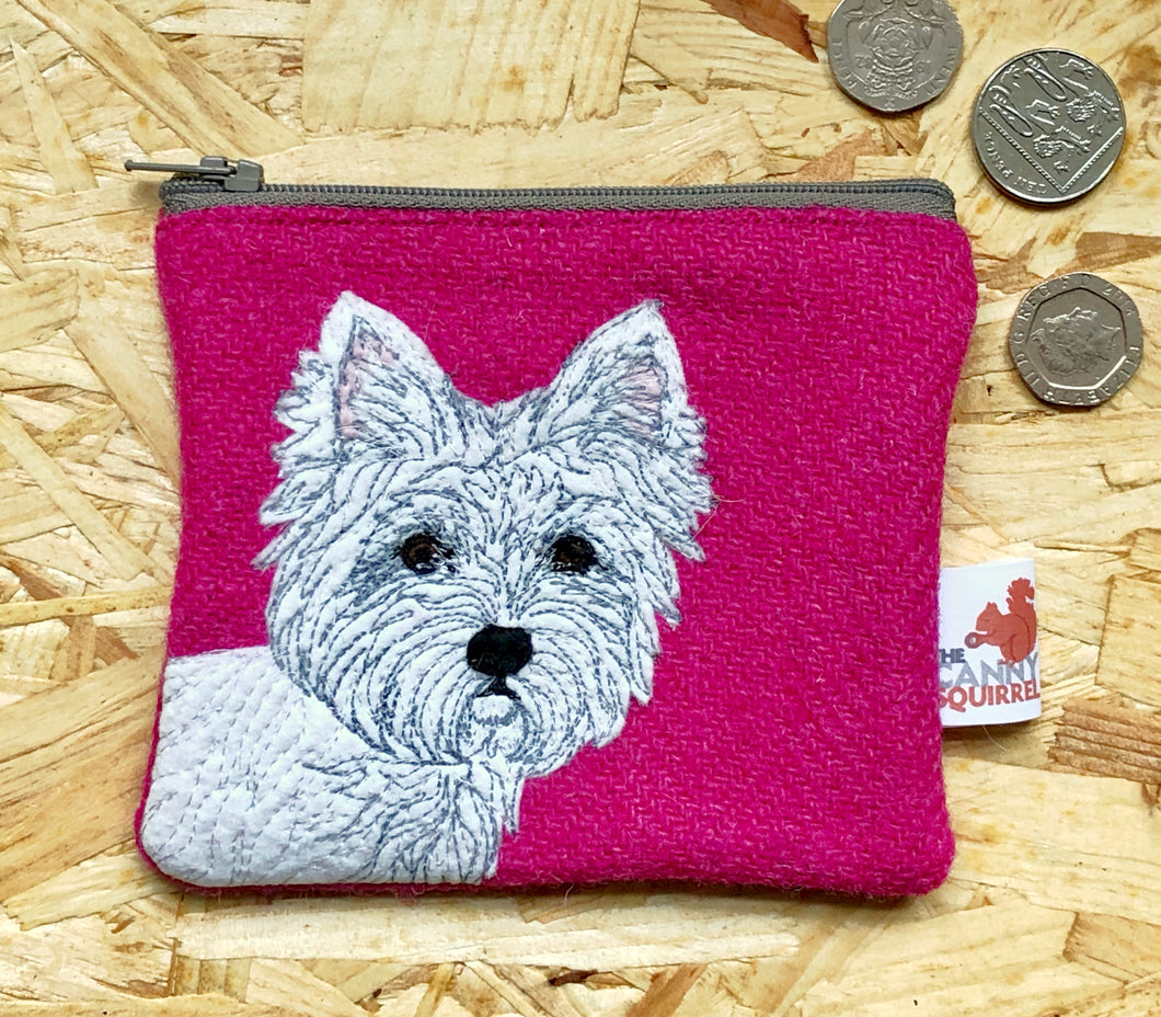 West Highland Terrier coin purse - pink