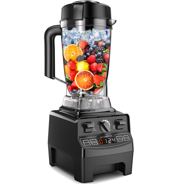 GB64 Vanaheim Professional Blender 1450W, 64Oz Container with Tamper,9 Auto Programs,Variable Speed,Auto Clean,Powerful Stainless Steel Blade for Easily Crushing of Ice Smoothies and Frozen Desert, 2.25HP