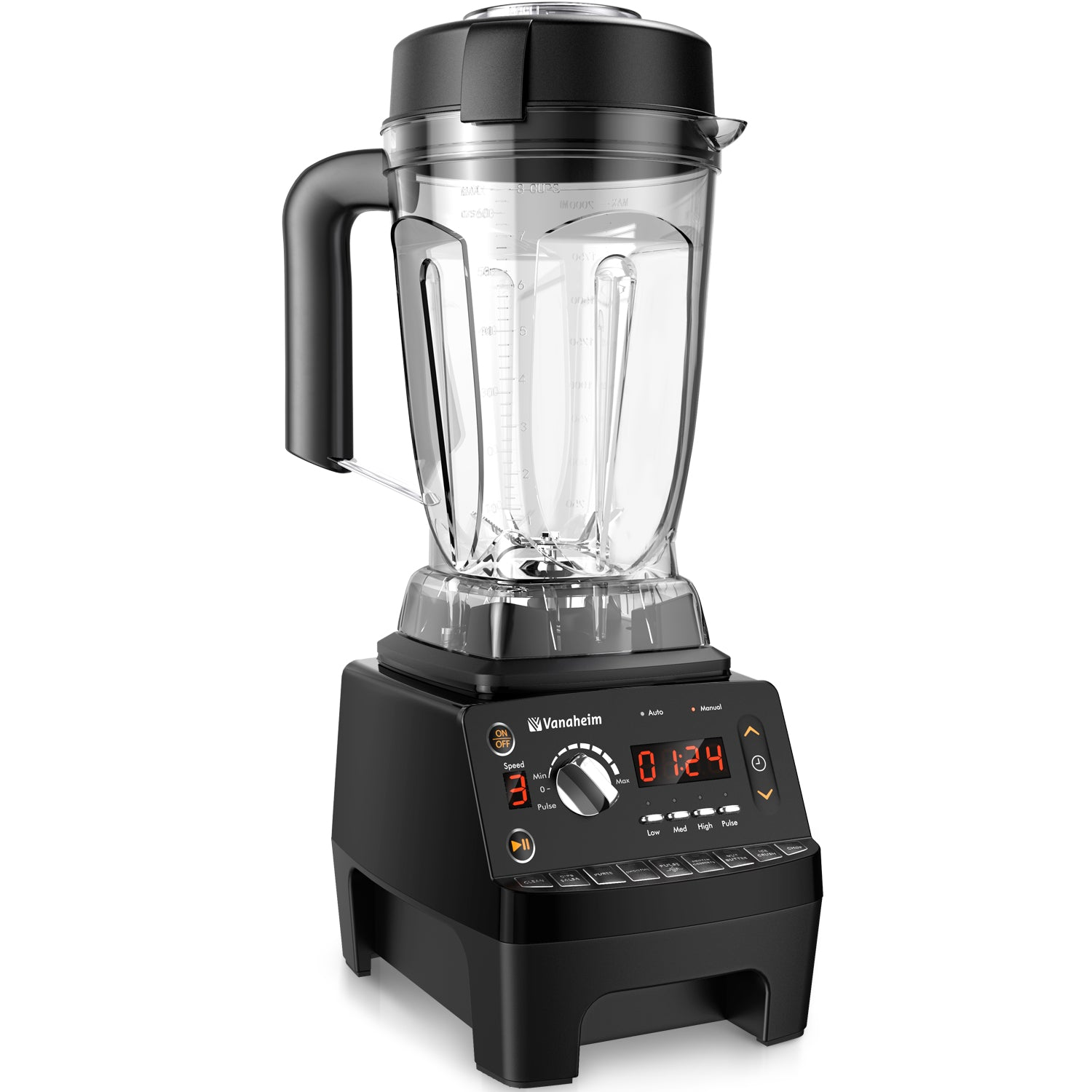 Vanaheim Professional Blender 1450W, 64Oz Container with Tamper,9 Auto Programs,Variable Speed,Auto Clean,Powerful Stainless Steel Blade for Easily Crushing of Ice Smoothies and Frozen Desert, 2.25HP