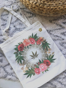 rosebud and flowers tote bag by Fashionably High