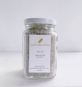 Purify Soaking Salts by Gold & Loom
